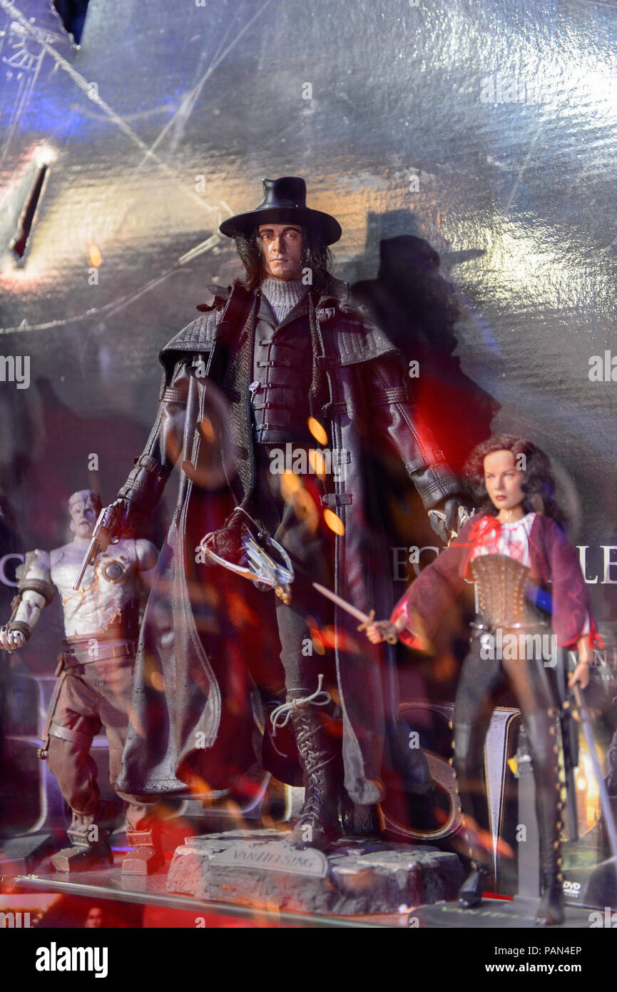 GENOVA, ITALY - MAY 4, 2016: Hugh Jackman as Van Helsing, International cinema museum in Genova, Italy. Museum with collections about the popular Holl - Stock Image