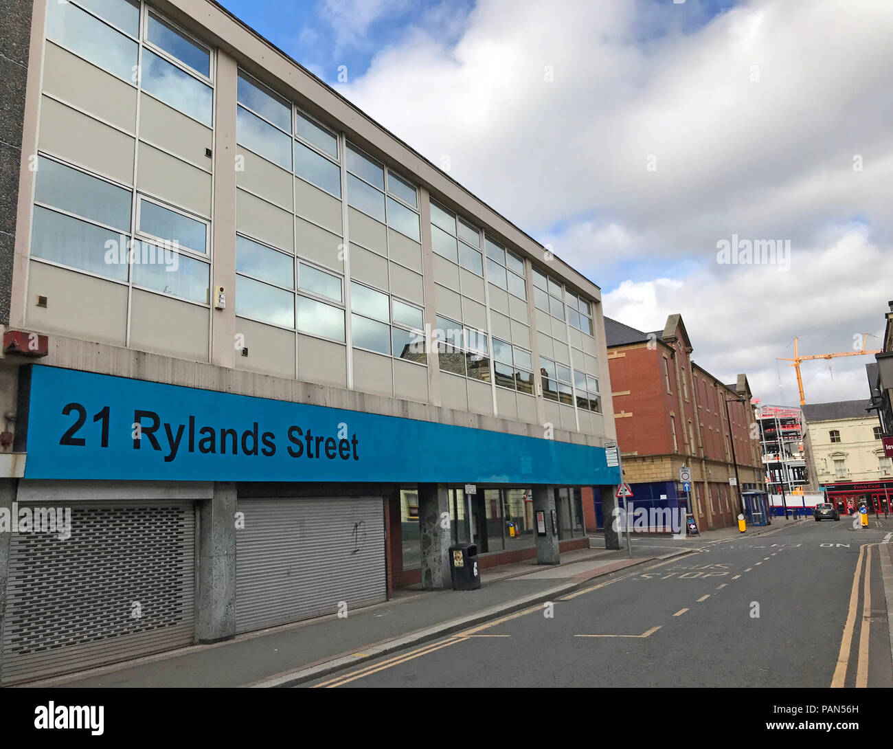 21 Rylands Street, Warrington town centre, Cheshire, North West England, UK - Stock Image