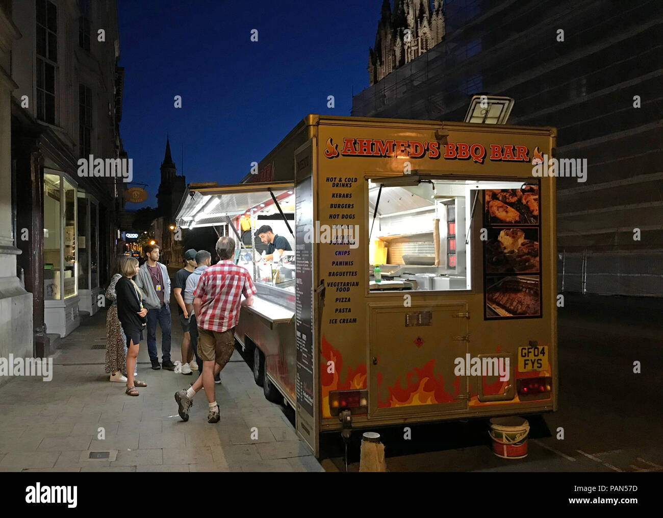 Ahmeds BBQ van, Oxford, Oxfordshire, South East England, Uk - Stock Image