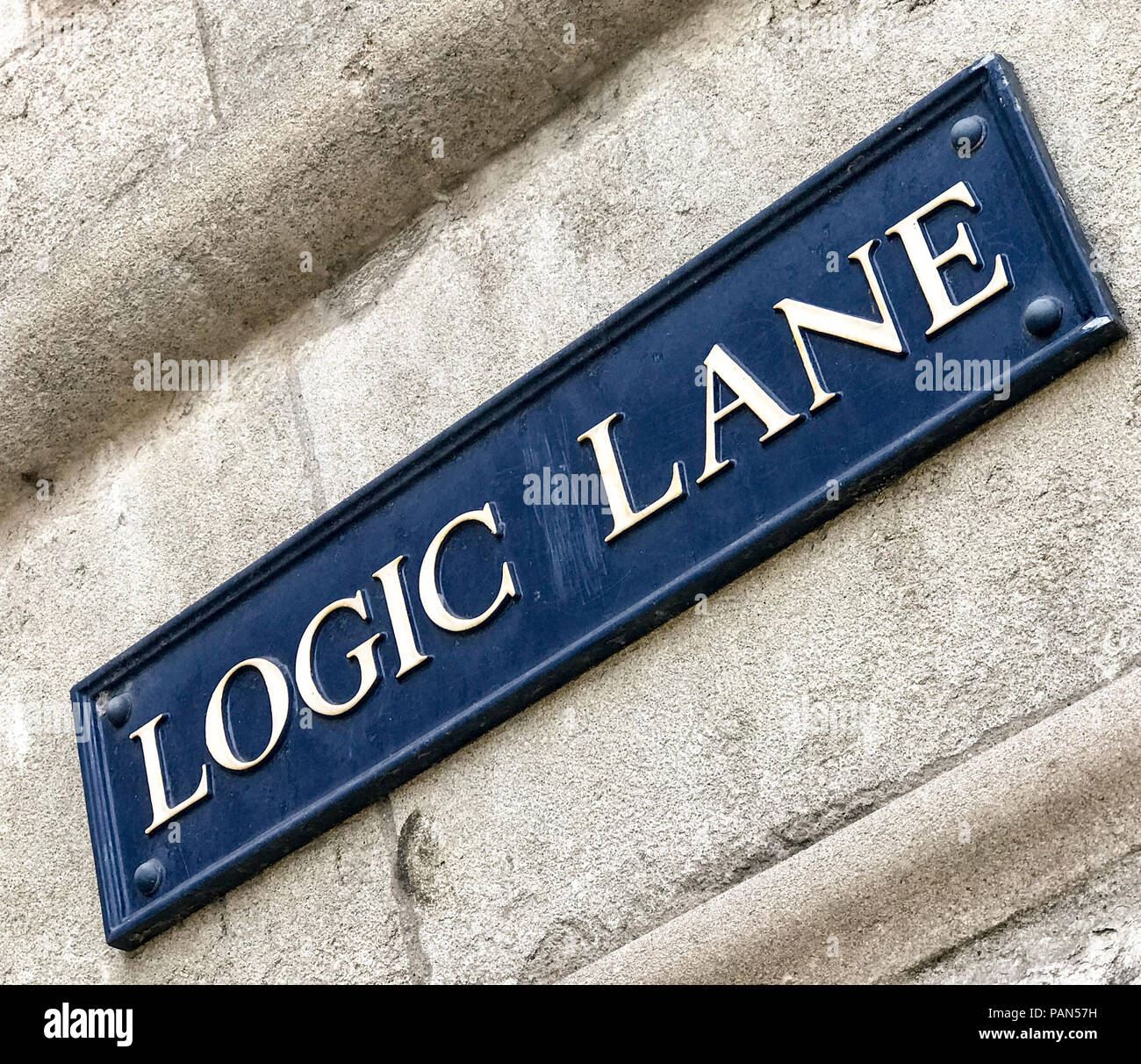 Logic Lane, Oxford, Oxfordshire, South East England, Uk - Stock Image