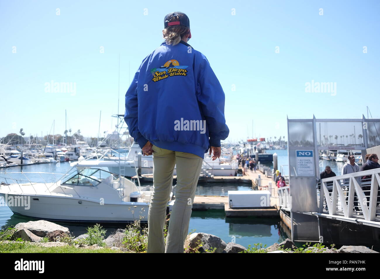 San Diego Whale Watching ready to depart - Stock Image