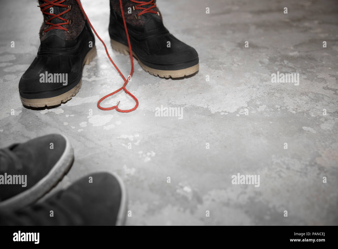 Two pair of shoes, symbol love - Stock Image
