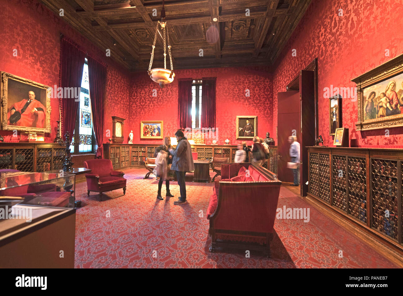 The West Room of the Morgan Library & Museum was used by financier Pierpont Morgan (1837-1913) as his study. Manhattan, New York City, USA,  Manhattan - Stock Image