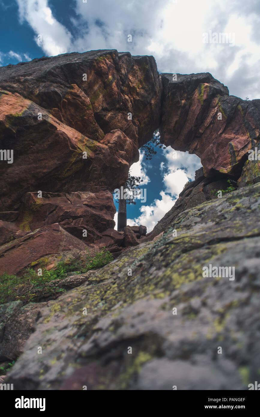 Royal Arches Hike Colorado - Stock Image