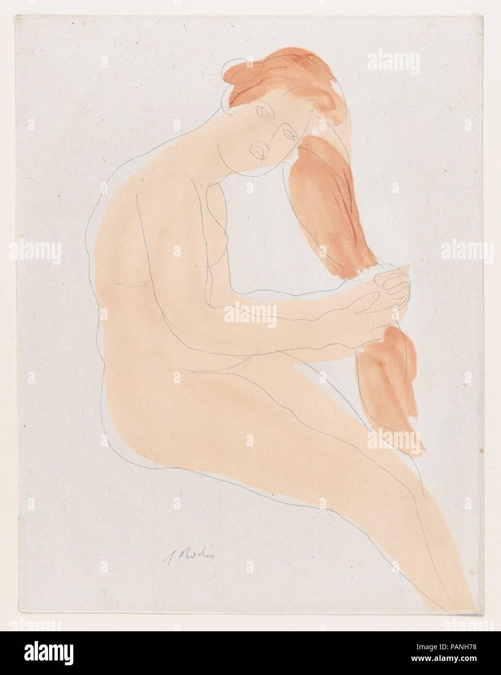 Paris 20th Century Auguste Rodin Tote Modern Art Et telle est-l/'invulnerable beaute de son corps...,Fine Art Print 1902