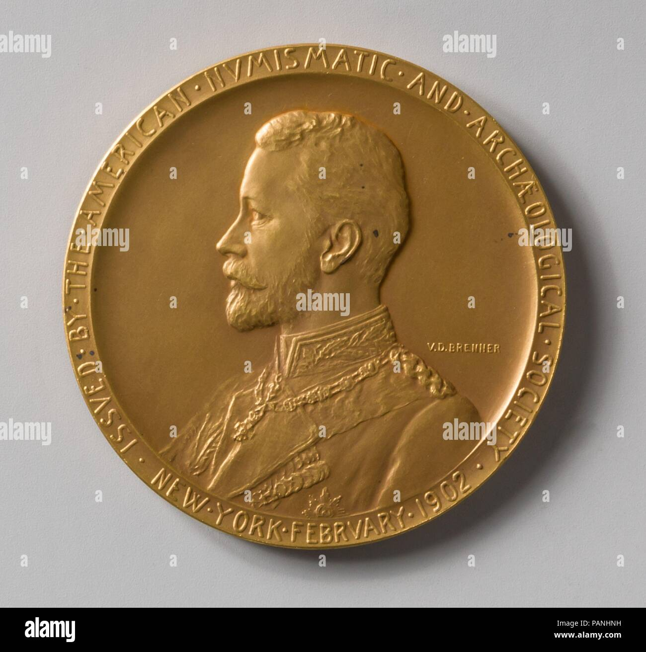Prince Henry of Prussia. Artist: Victor David Brenner (American (born Lithuania), Kaunas 1871-1924 New York). Dimensions: Diam. 2 3/4 in. (7 cm). Date: 1902. Museum: Metropolitan Museum of Art, New York, USA. Stock Photo