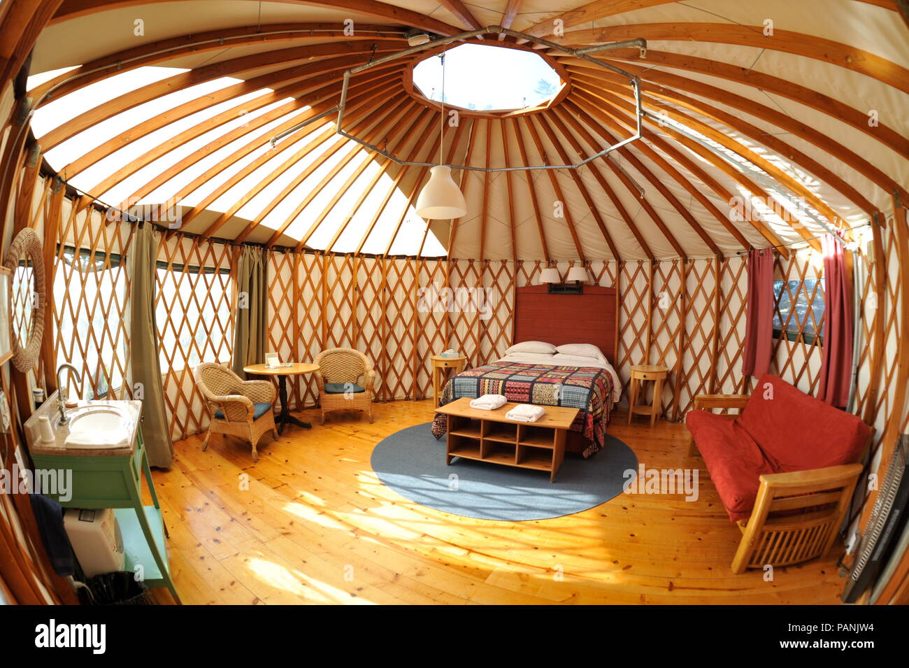 Fabric And Wood Framed Yurt Structures For Luxurious
