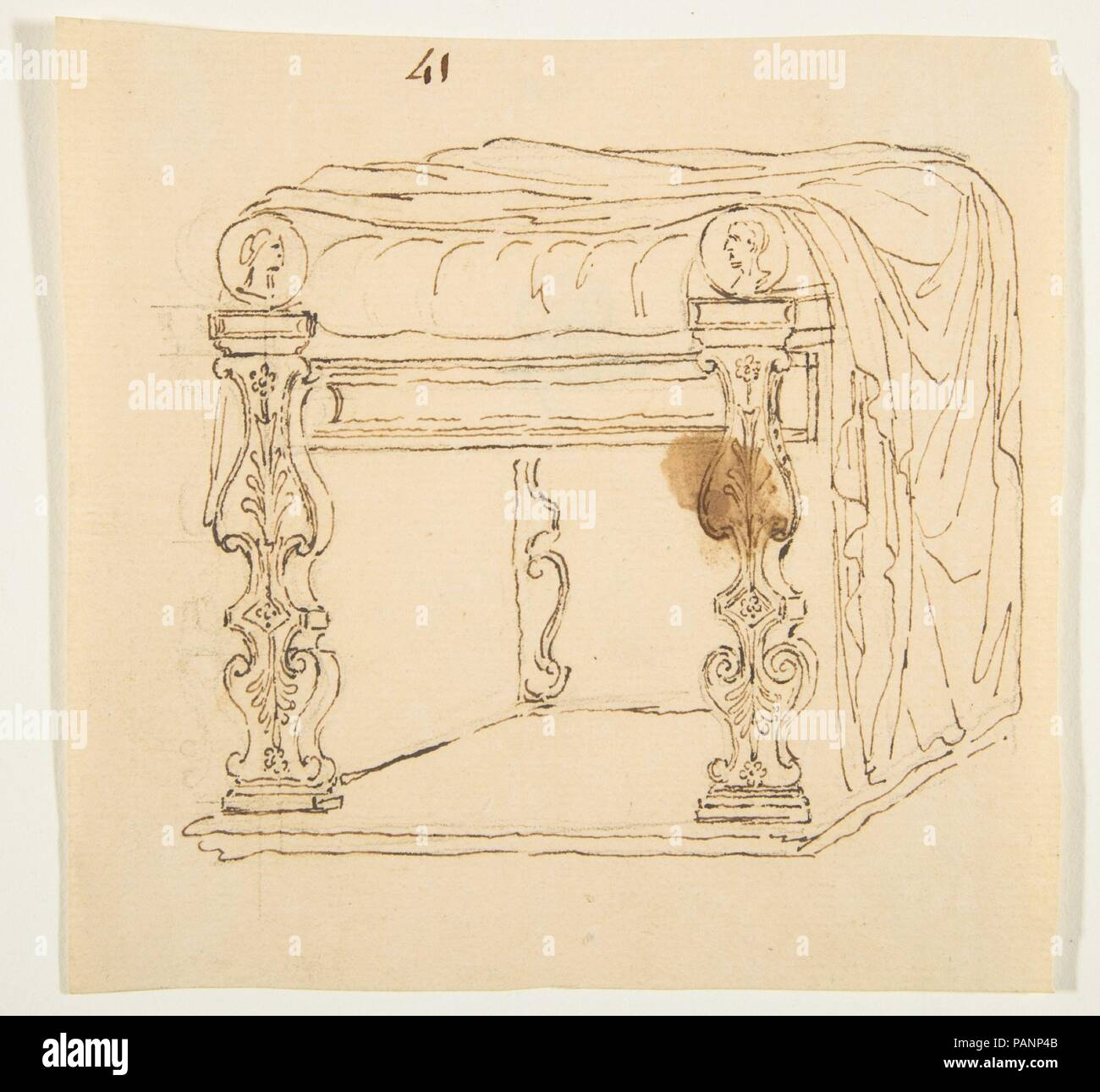Drawing After An Antique Tabouret Artist Anonymous French 19th