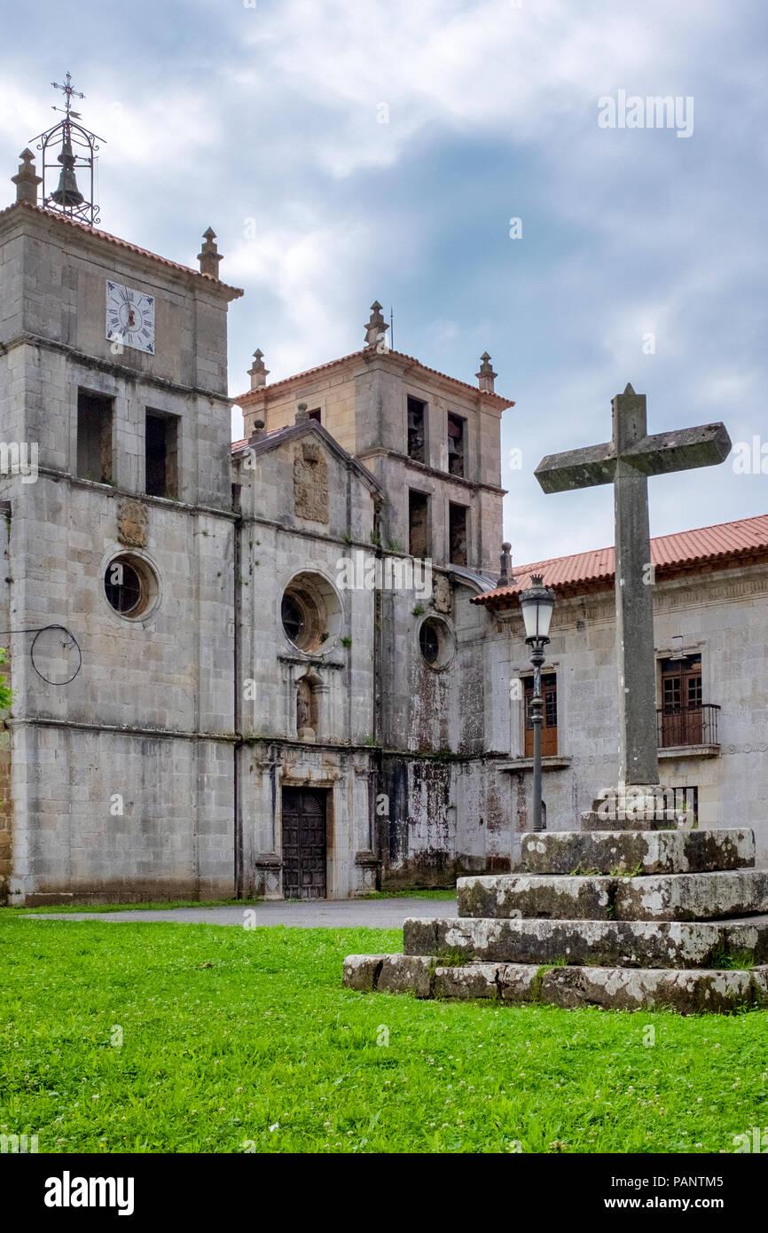 Monasterio de San Salvador, Cornellana, Asturias, Spain - Stock Image