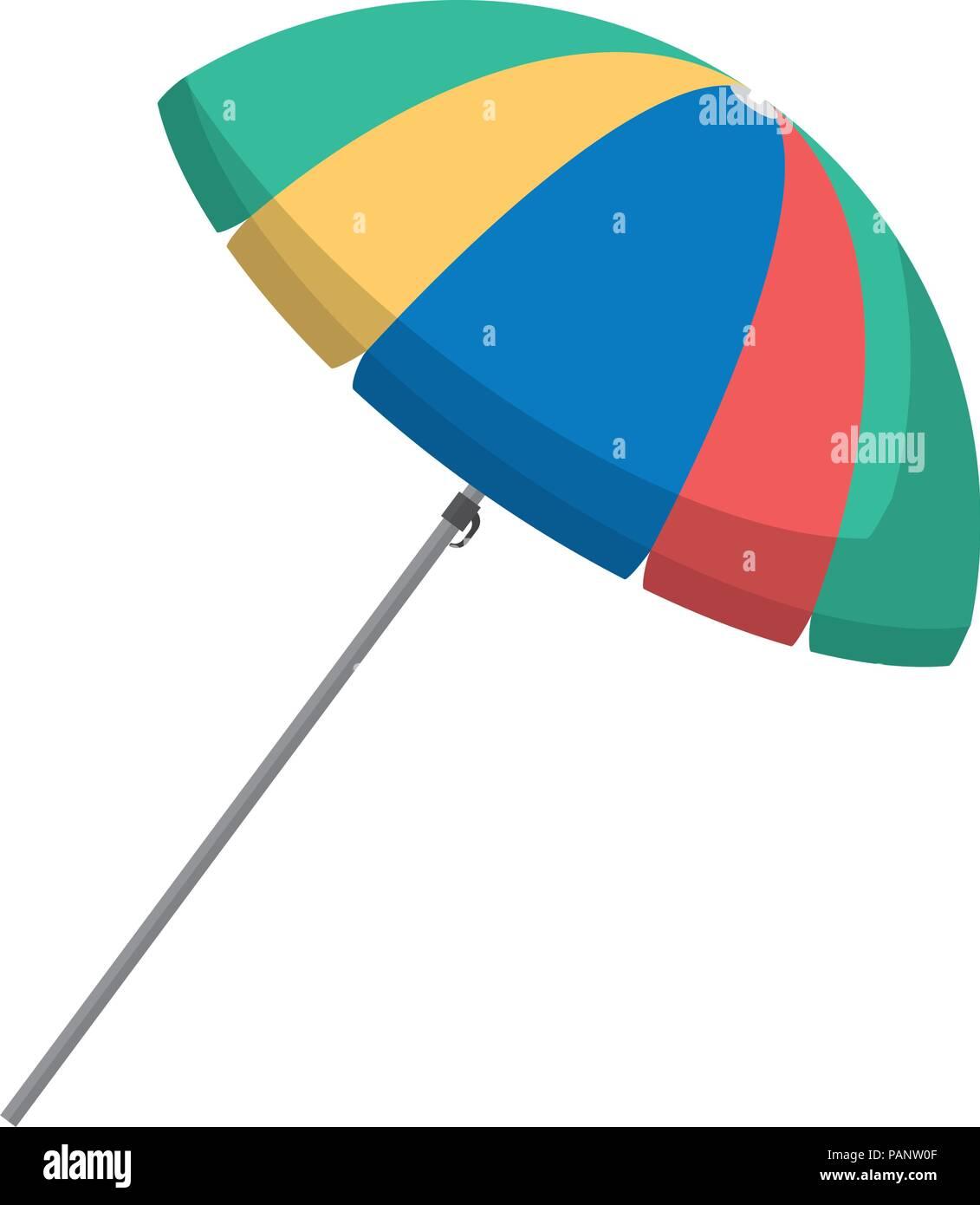 open umbrella accessory to sun protection - Stock Image