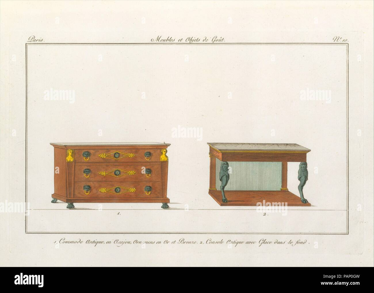 Design for a commode and console plate 10 in collection de