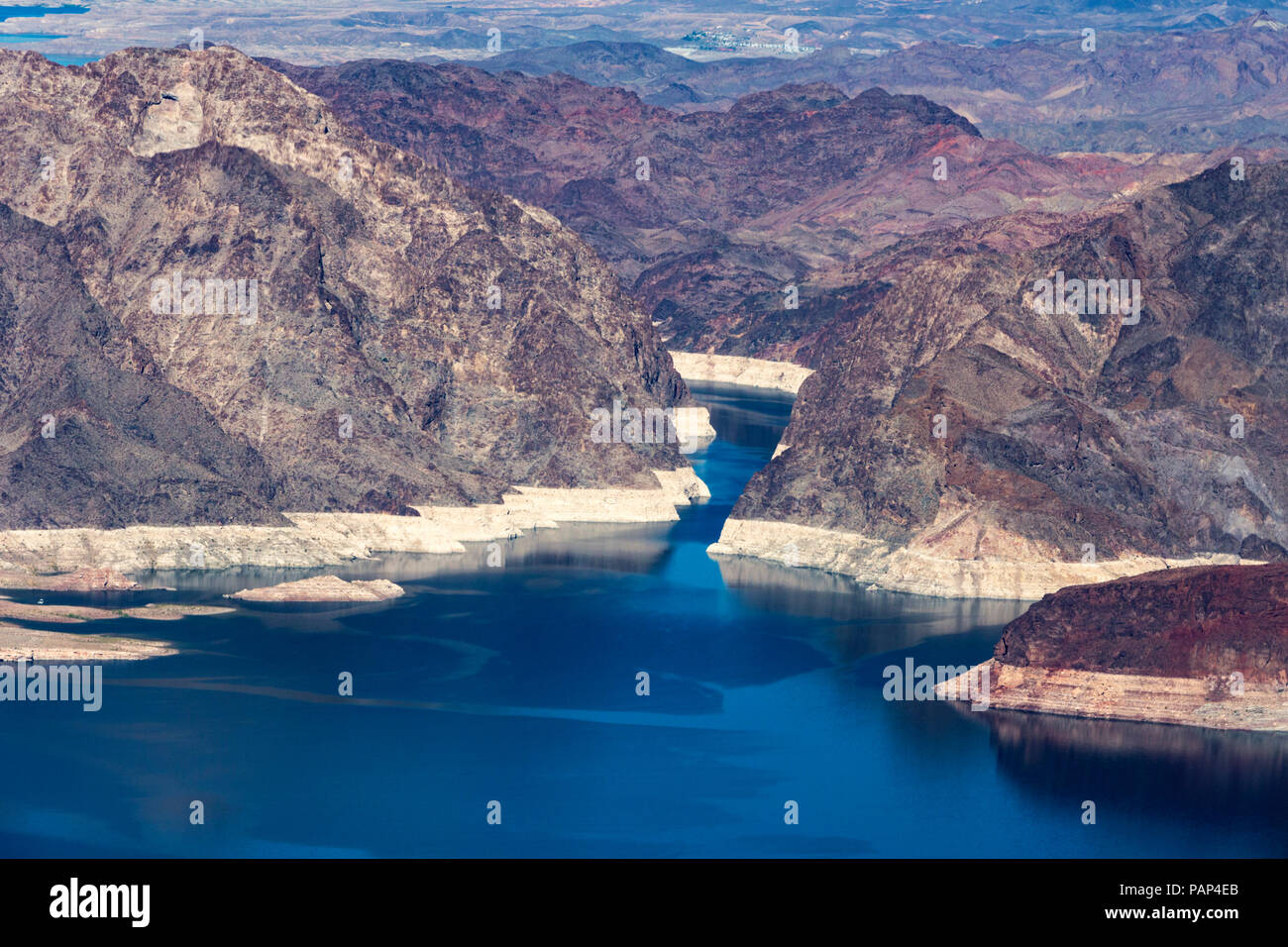 Lake Mead Desert Scene, Grand Canyon National Park, Arizona, Nevada Border, United States of America, Tuesday, May 29, 2018. Stock Photo