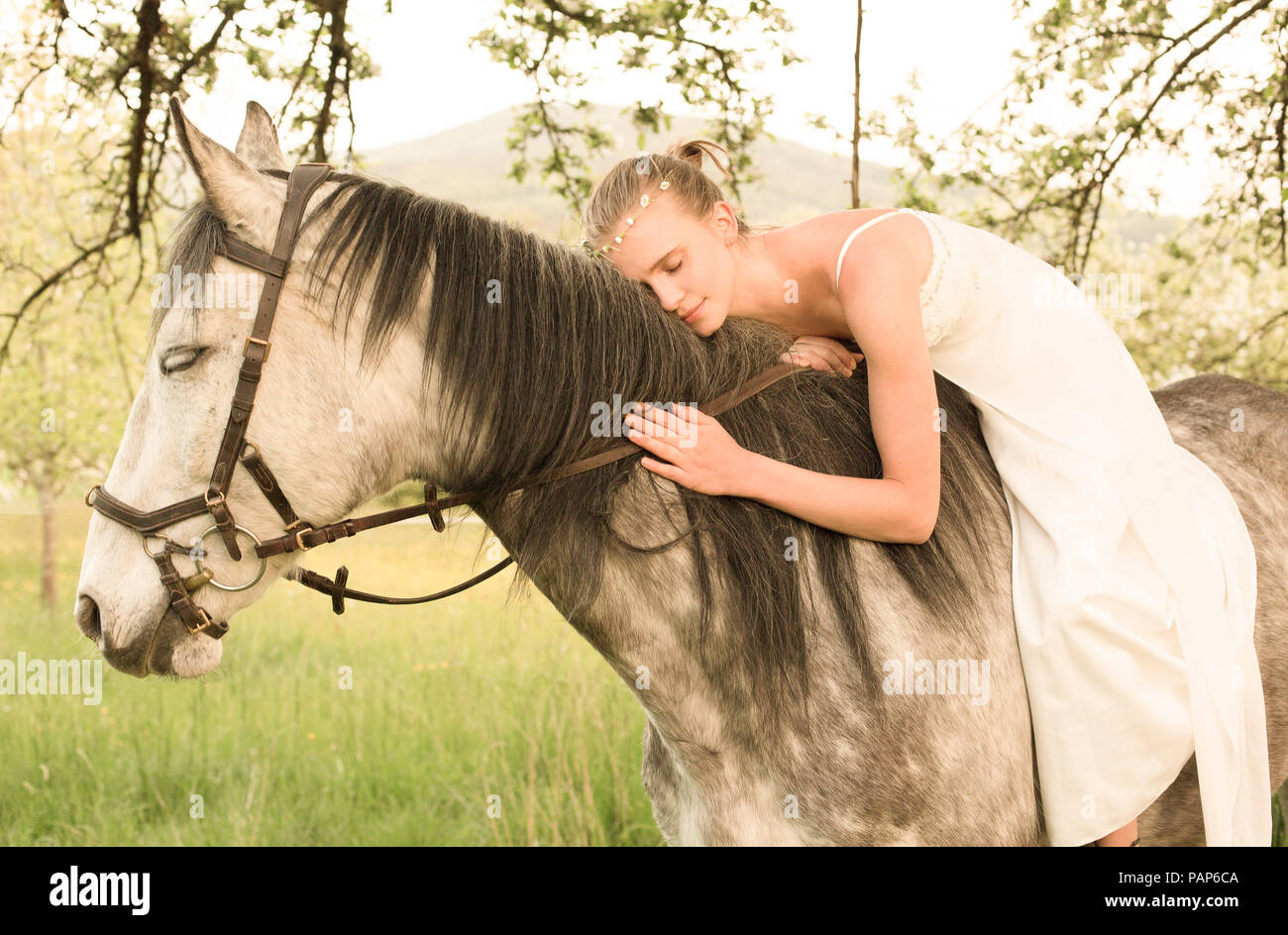 Woman Horse Riding Dress High Resolution Stock Photography And Images Alamy