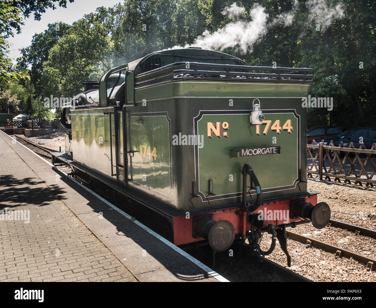Class N2 0-6-2T tank engine 1744, built at the North British Locomotive  works in 1921. Ex BR number 69523, LNER locomotive number 4744,