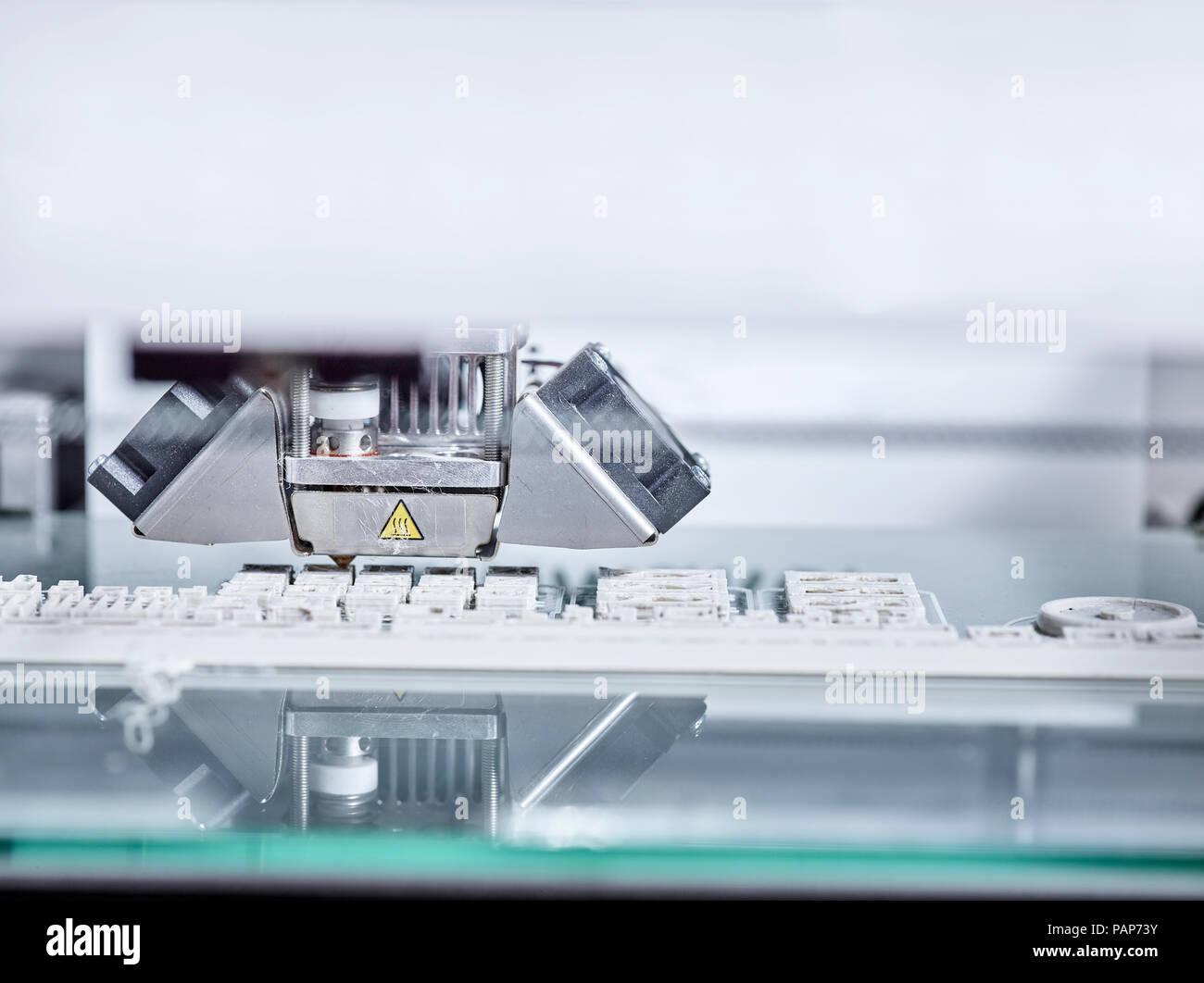 Detail of 3D printer Stock Photo