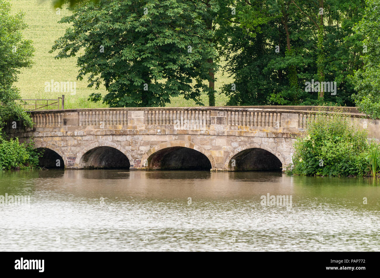 Compton Verney Bridge, Warwickshire - Stock Image