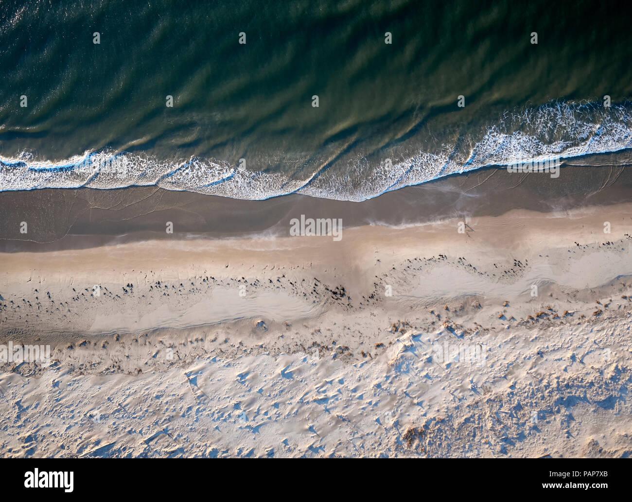 USA, Virginia, Aerial view of Virginia Coast Reserve, Atlantic Ocean, beach Stock Photo