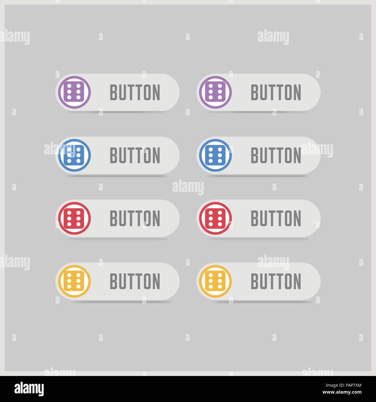 Dice Cube Icon - Free vector icon Stock Vector Art