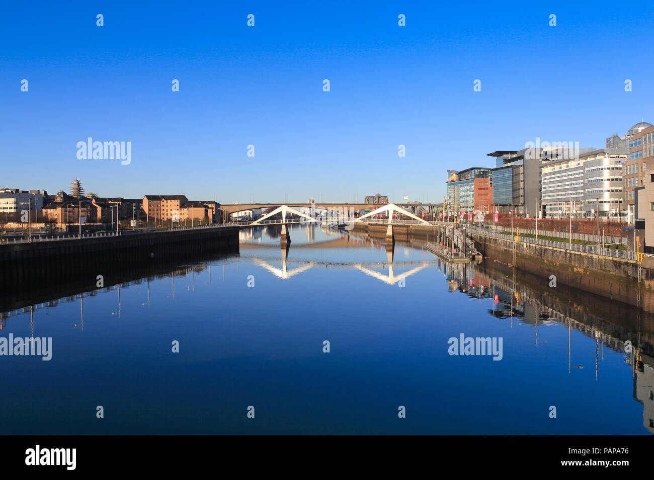 Clyde River Glasgow - Stock Image