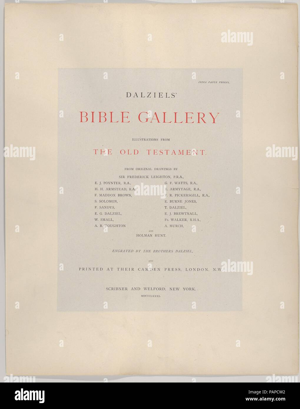 Dalziels' Bible Gallery: Illustrations from the Old