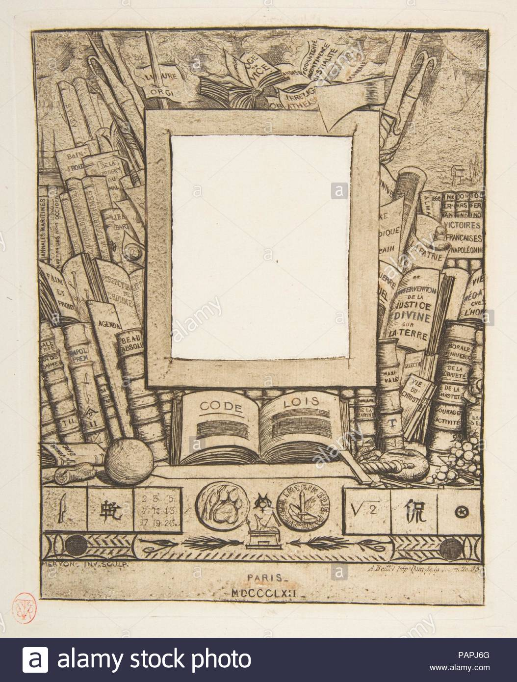 Design For A Frame For The Portrait Of Armand Guéraud Artist