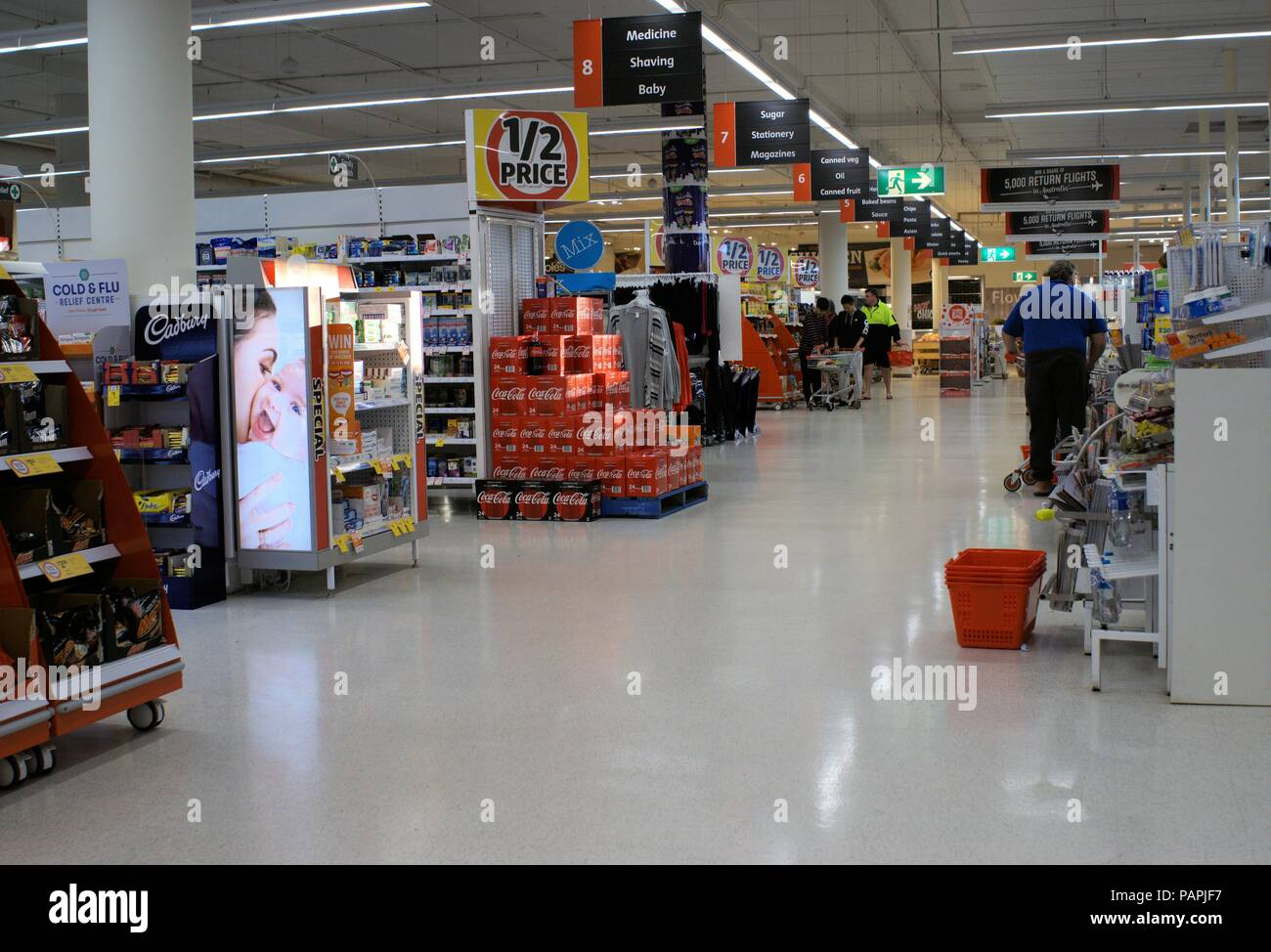 Shoppers at Coles supermarket in Port Macquarie coastal town of