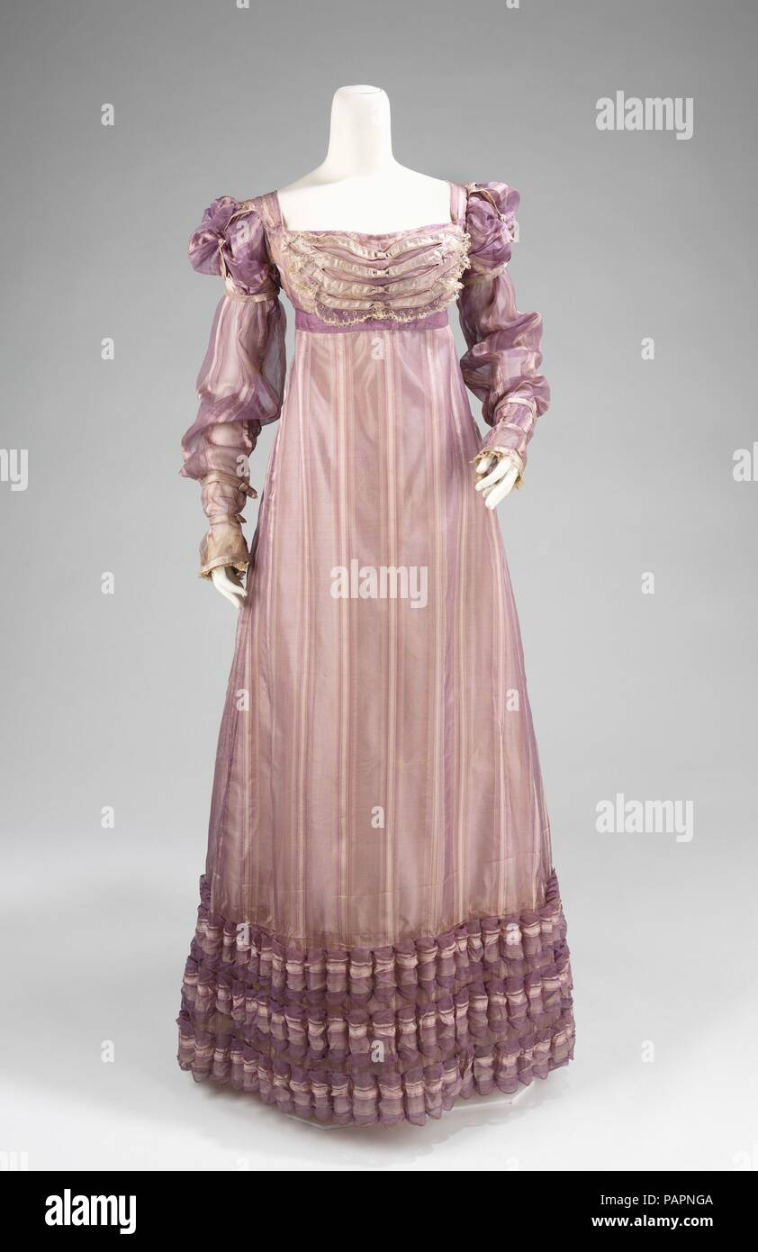 Ball gown. Culture: American. Date: ca. 1820. The puffed sleeves of ...