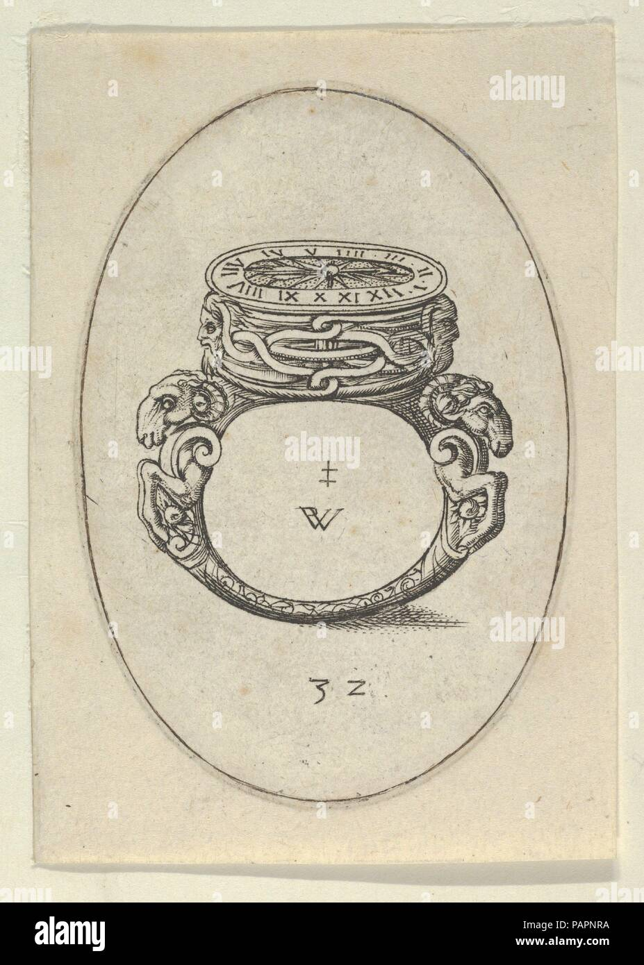 Design For A Ring Watch From Livre D Aneaux D Orfevrerie