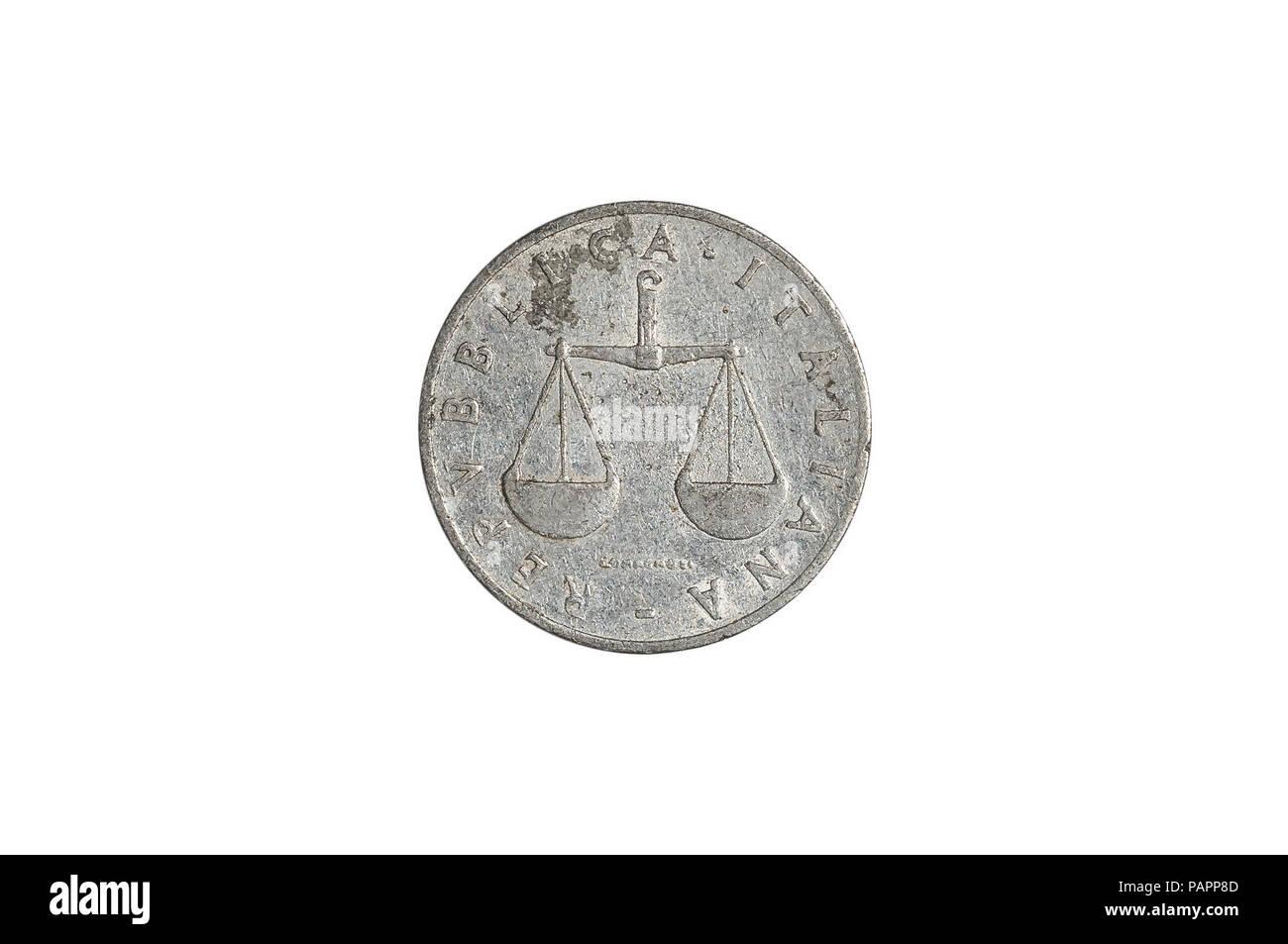 Italian Lire Coin Stock Photos & Italian Lire Coin Stock
