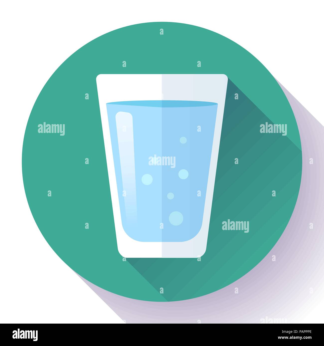 glass of water icon flat design - Stock Vector
