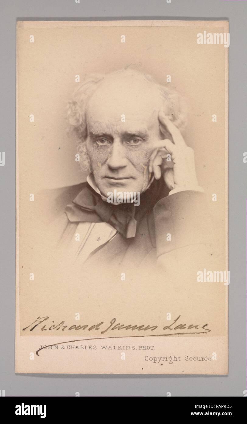 [Richard James Lane]. Dimensions: Approx. 10.2 x 6.3 cm (4 x 2 1/2 in.). Photography Studio: John and Charles Watkins (British, active 1867-71). Date: 1860s. Museum: Metropolitan Museum of Art, New York, USA. - Stock Image