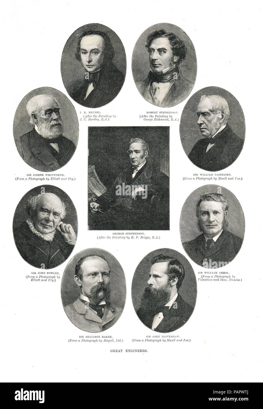 Great Engineers of the Victorian era - Stock Image