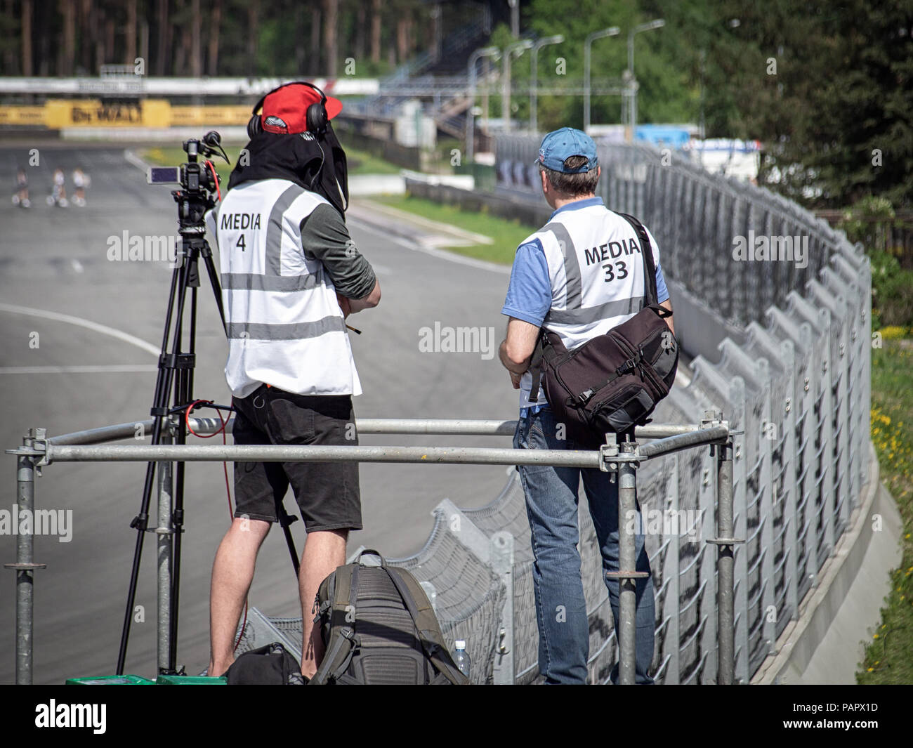 Media cameramen at work - Stock Image