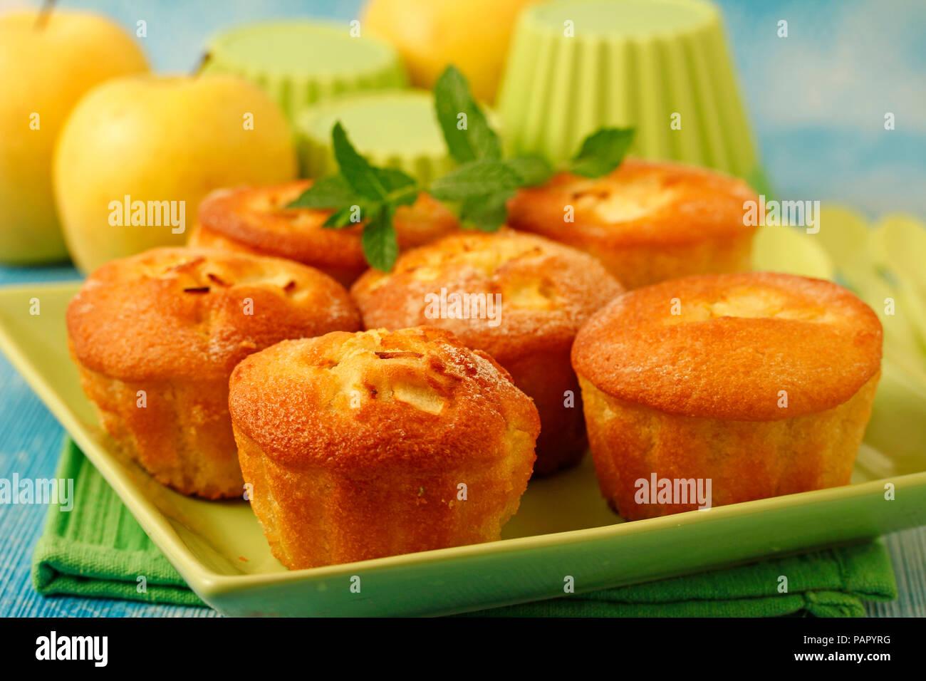 Apple muffins. - Stock Image