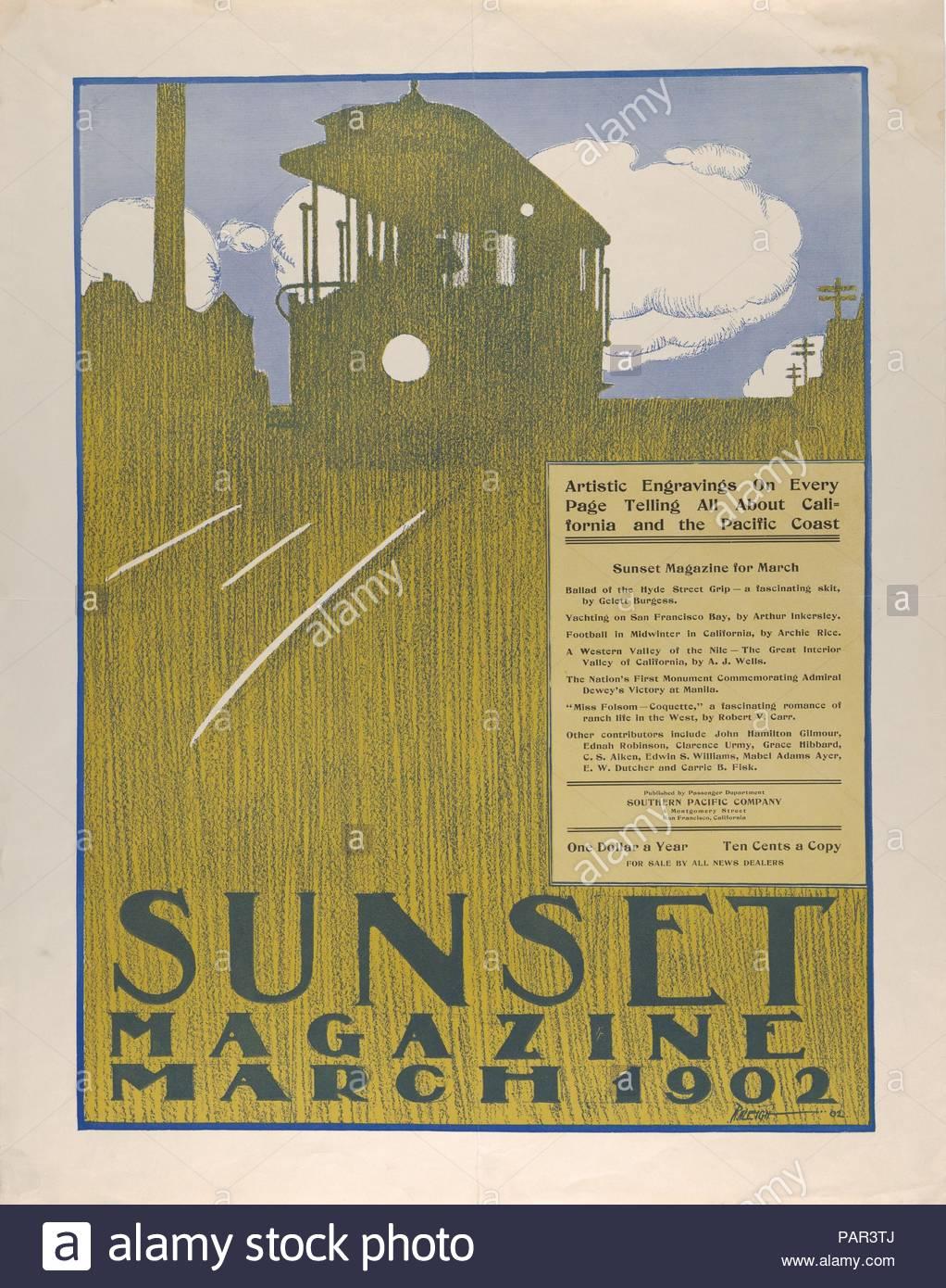 Sunset Magazine: March. Artist: Henry Patrick Raleigh (American, Portland, Oregon 1880-1944 New York). Dimensions: Sheet: 24 × 19 in. (61 × 48.3 cm). Date: 1902. Museum: Metropolitan Museum of Art, New York, USA. - Stock Image