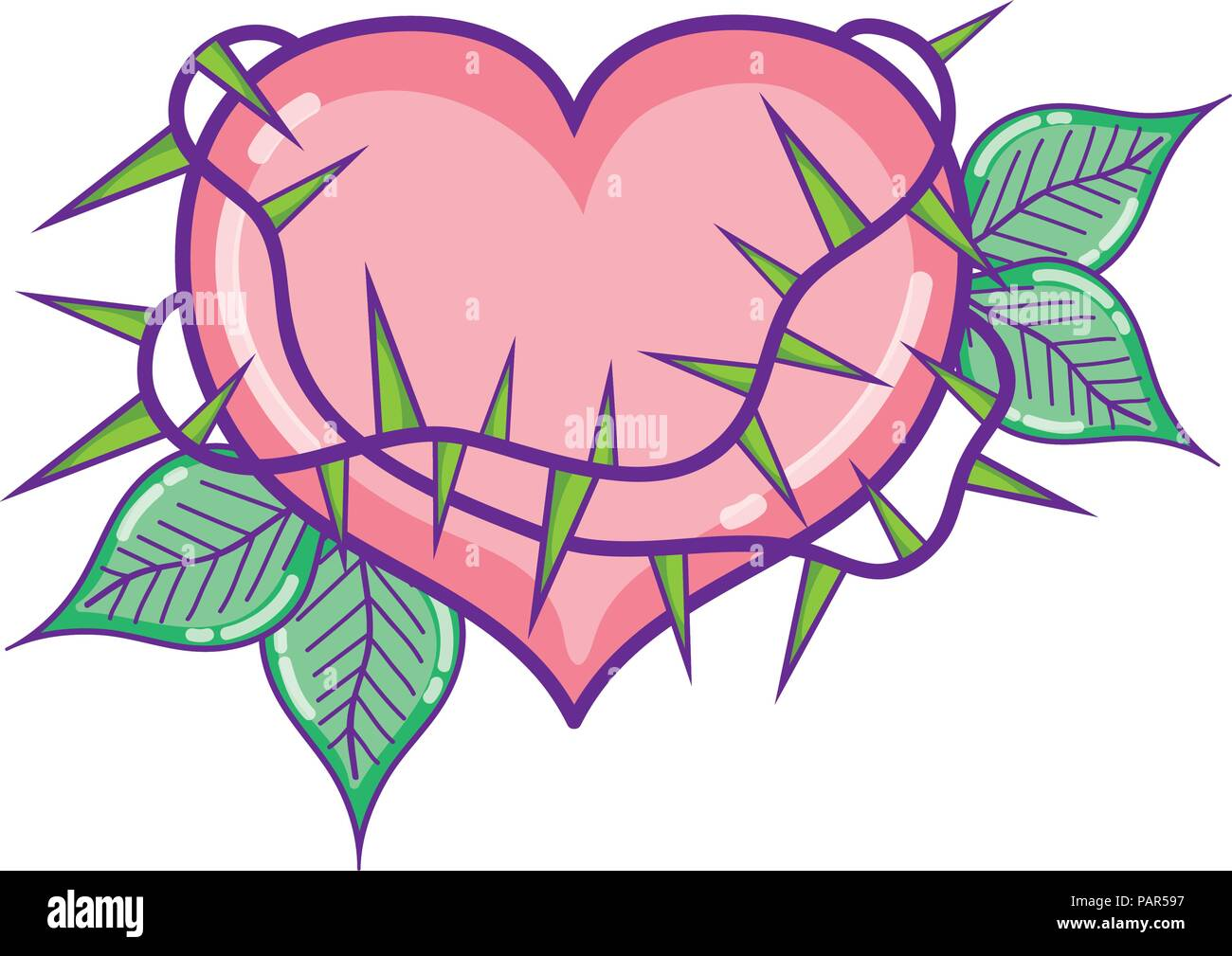 Heart And Thorns Stock Photos & Heart And Thorns Stock Images - Alamy