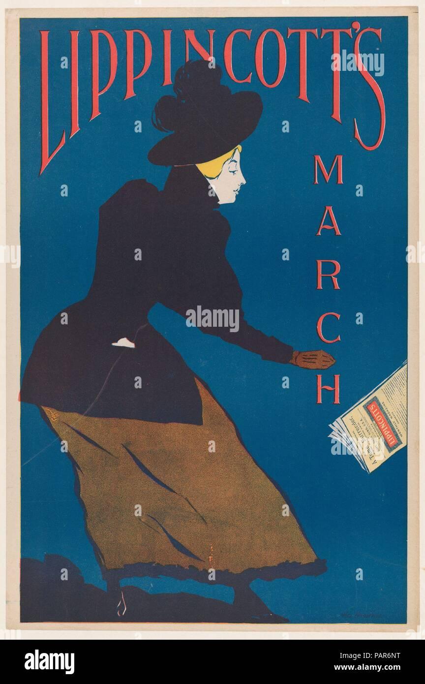 Lippincott's: March. Artist: William L. Carqueville (American, Chicago, Illinois 1871-1946). Dimensions: Sheet: 19 1/8 × 12 5/8 in. (48.5 × 32.1 cm)  Image: 18 9/16 × 11 7/8 in. (47.1 × 30.1 cm). Publisher: J. B. Lippincott Company (Philadelphia). Date: 1895. Museum: Metropolitan Museum of Art, New York, USA. - Stock Image