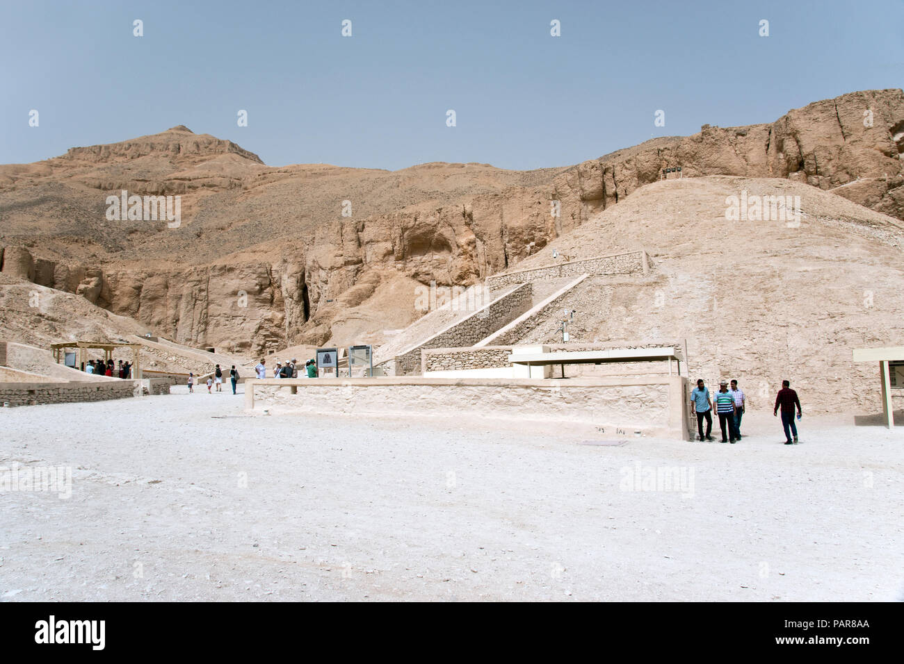 The tomb of pharaoh Tutankhamun (King Tut), renowned for its wealth of gold and valuable antiquities, in the Valley of the Kings, Luxor, Egypt. - Stock Image