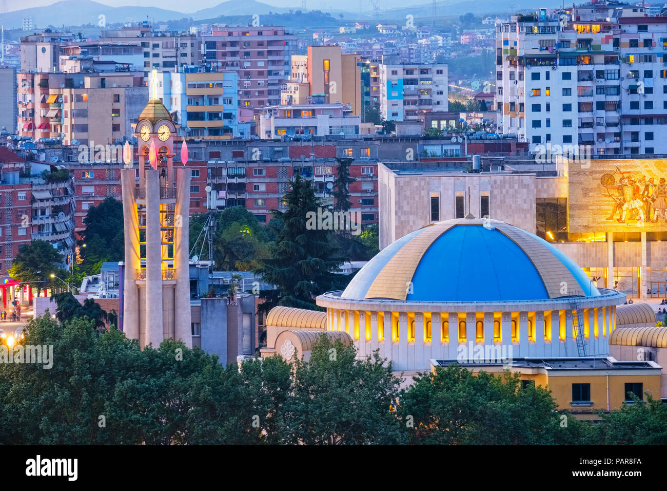 Albania, Tirana, resurrection cathedral, albanian orthodox church - Stock Image