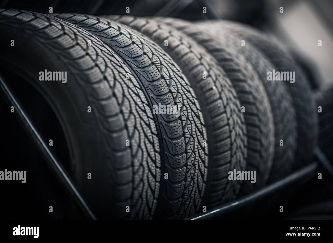 Used Car Tires >> New And Used Car Tires On The Store Rack Automotive Service