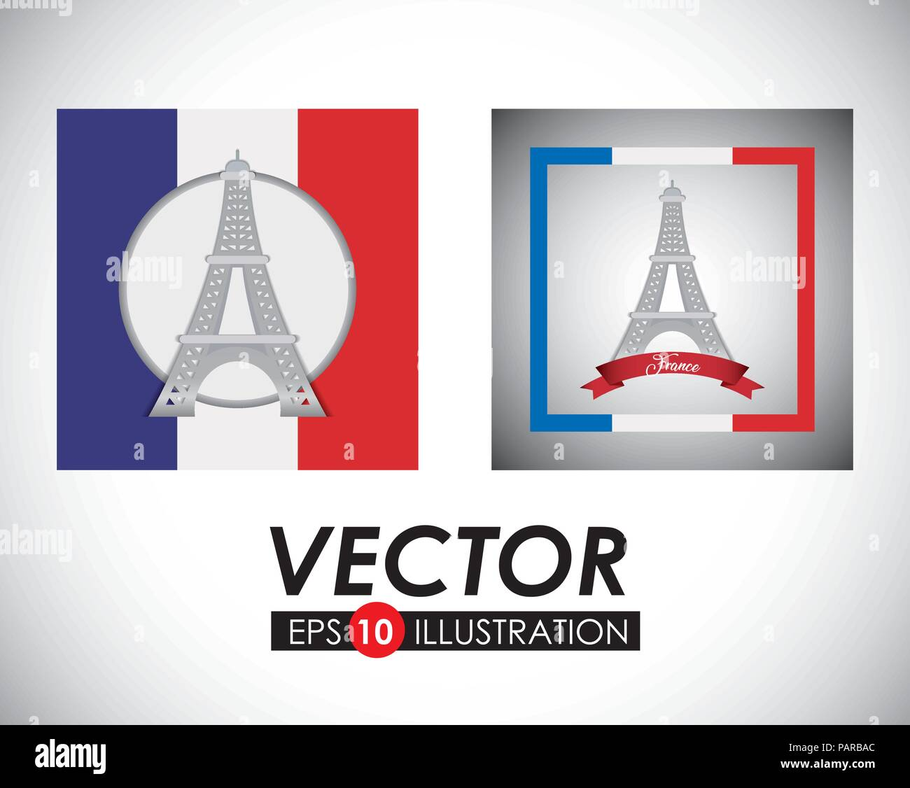 france design with eiffel tower over gray background, vector illustration - Stock Vector
