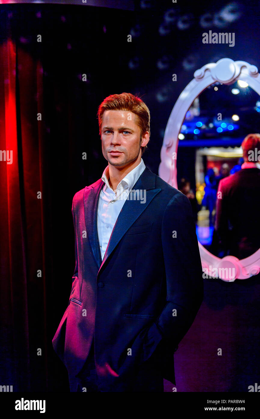 Museo Delle Cere Amsterdam.Amsterdam Netherlands Oct 26 2016 Brad Pitt American Actor And
