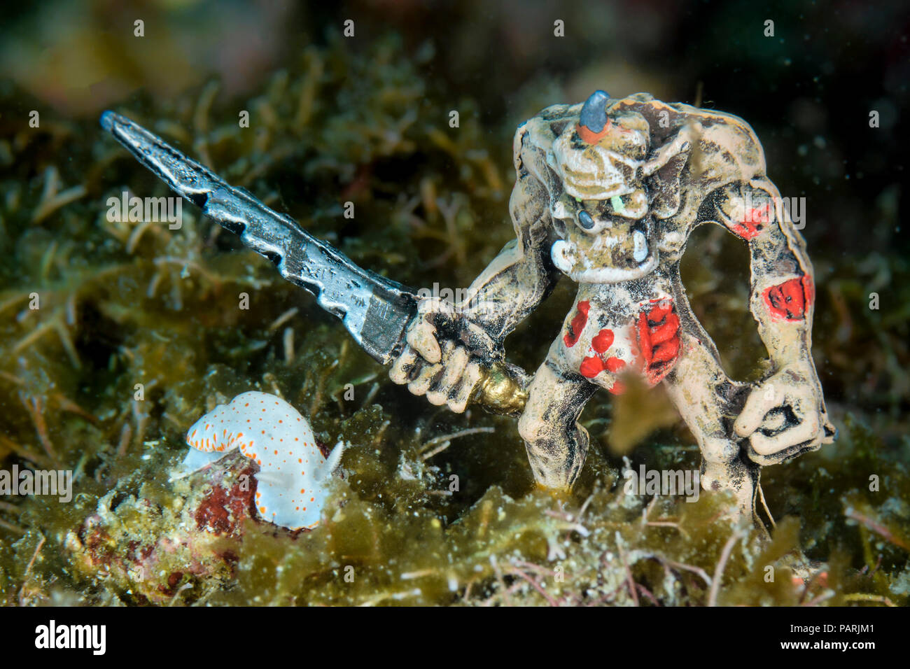 Nudibranch and RPG miniature - Stock Image