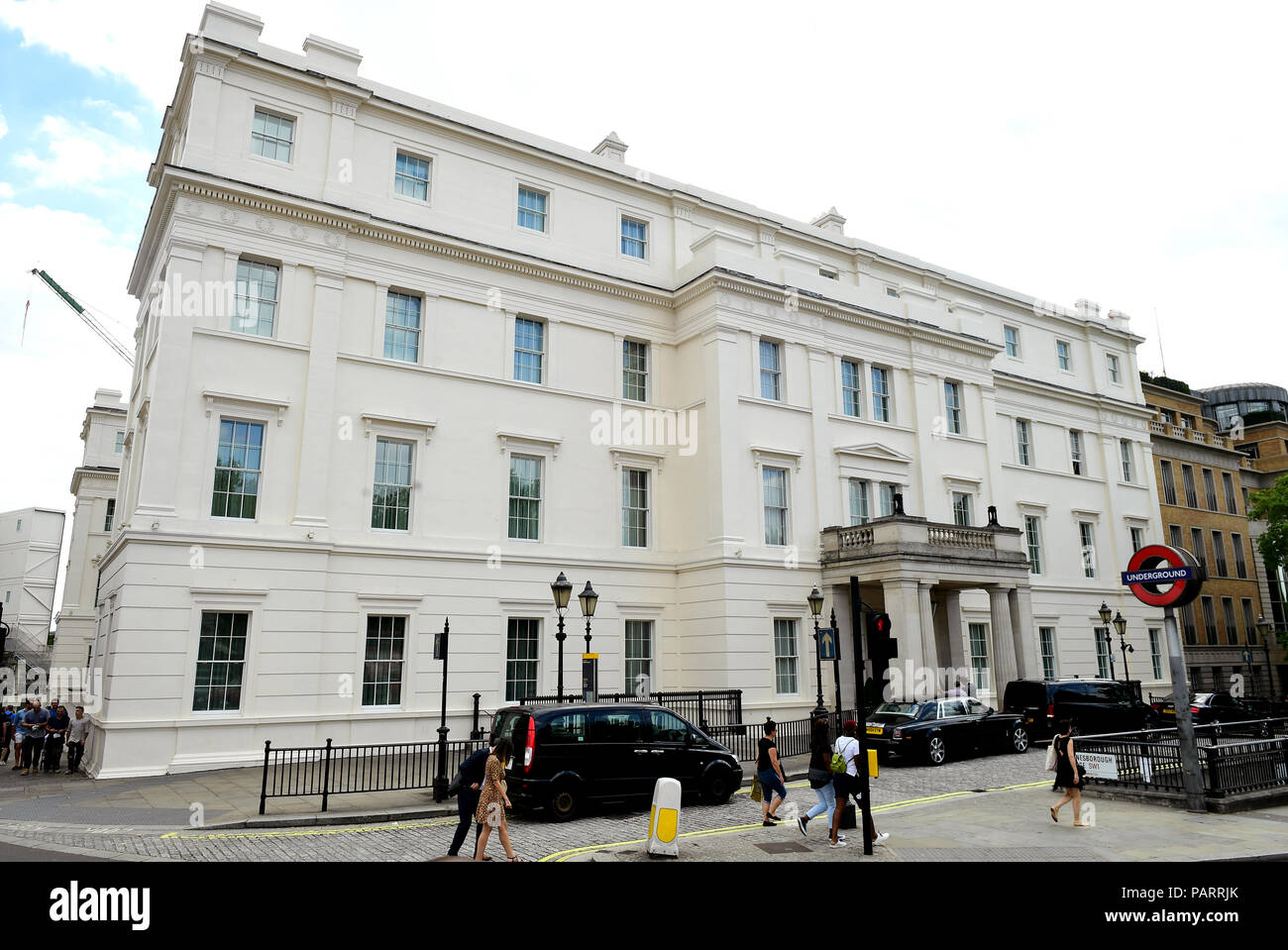 The Lanesborough Hotel in London. - Stock Image