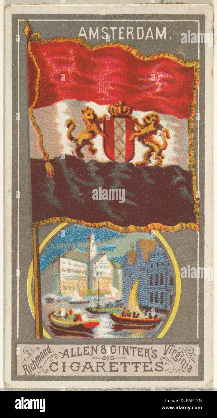 Amsterdam, from the City Flags series (N6) for Allen & Ginter ...