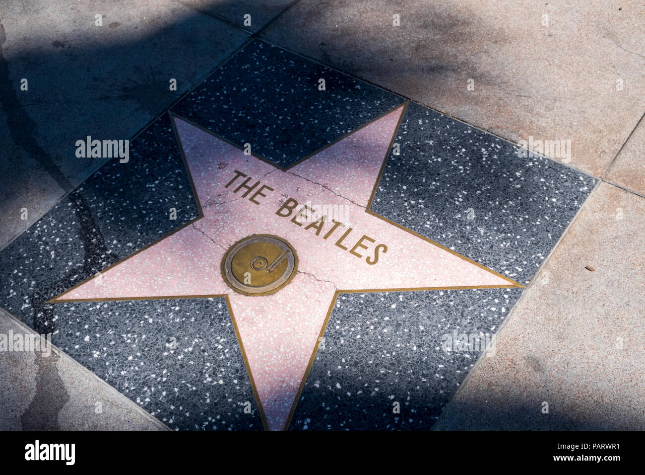 The Beatles star on the Walk of Fame, Hollywood Boulevard, Los Angeles, LA, California, USA - Stock Image