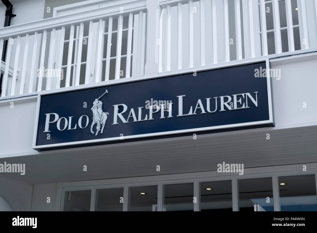 Polo Ralph Lauren store logo sign, UK - Stock Image