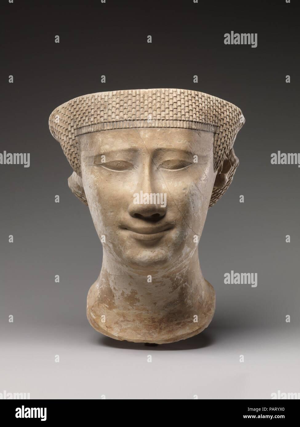 Partial female head  Dimensions: H  20 6 cm (8 1/8 in )