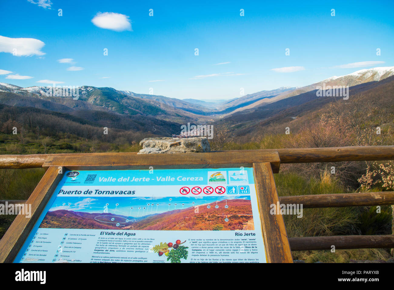 Viewpoint.Tornavacas mountain pass, Caceres province, Extremadura, Spain. - Stock Image