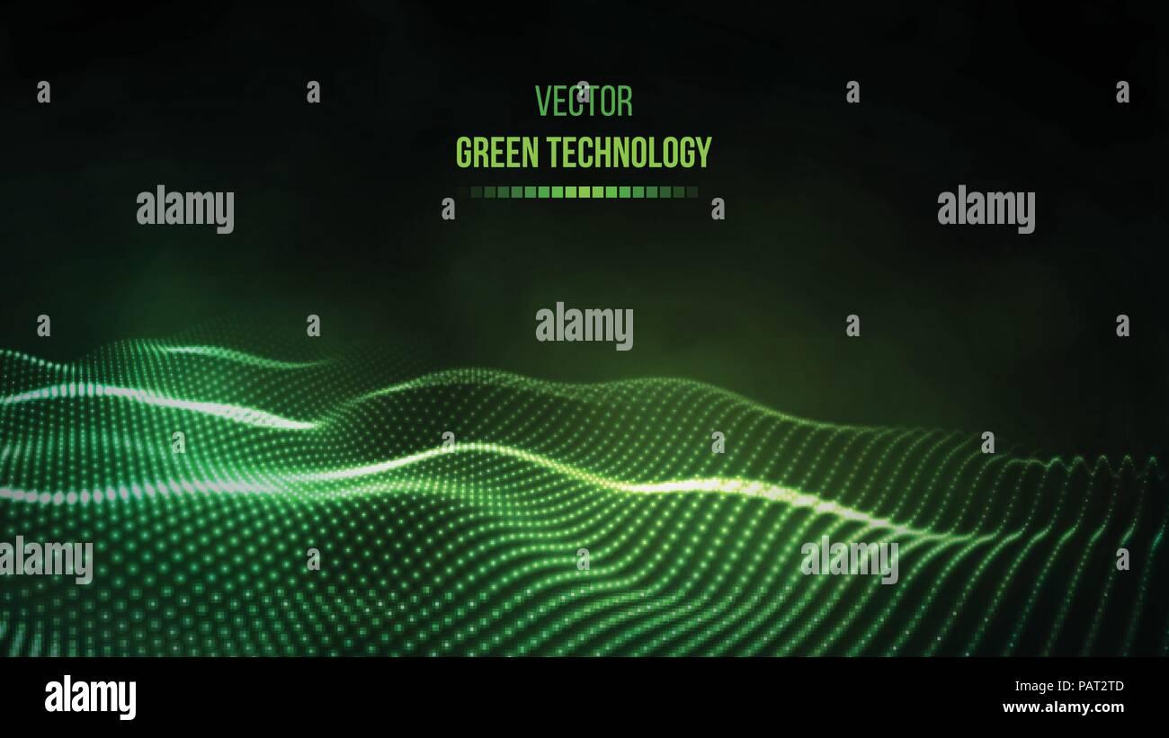 green technology background green energy vector illustration eps10